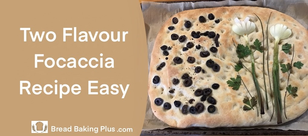 Two Flavour Focaccia Recipe Easy